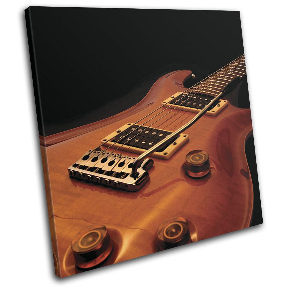Guitar INSTRUMENTS Musical SINGLE TOILE murale ART Photo Print