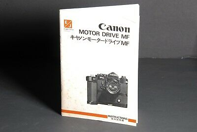 User Guide Canon Genuine Power Winder A2 Camera Instruction Book Manual