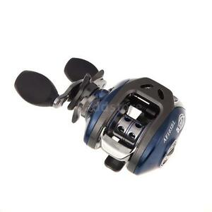 AF103 10+1BB Ball Bearings Left Hand Bait Casting Fishing Reel 6.3:1 Blue V2R8