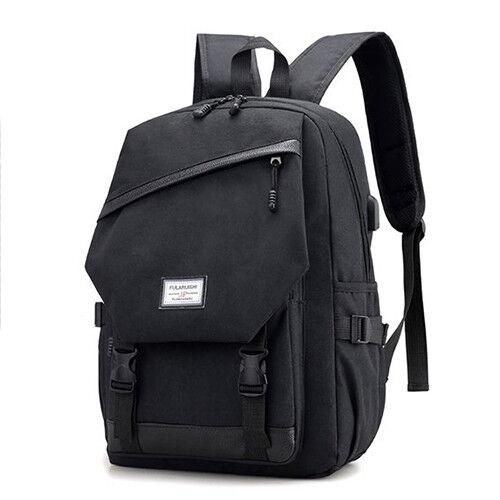 Men Waterproof Large Capacity 15.6 Inch Laptop Bag Man USB Design Backpack Bags