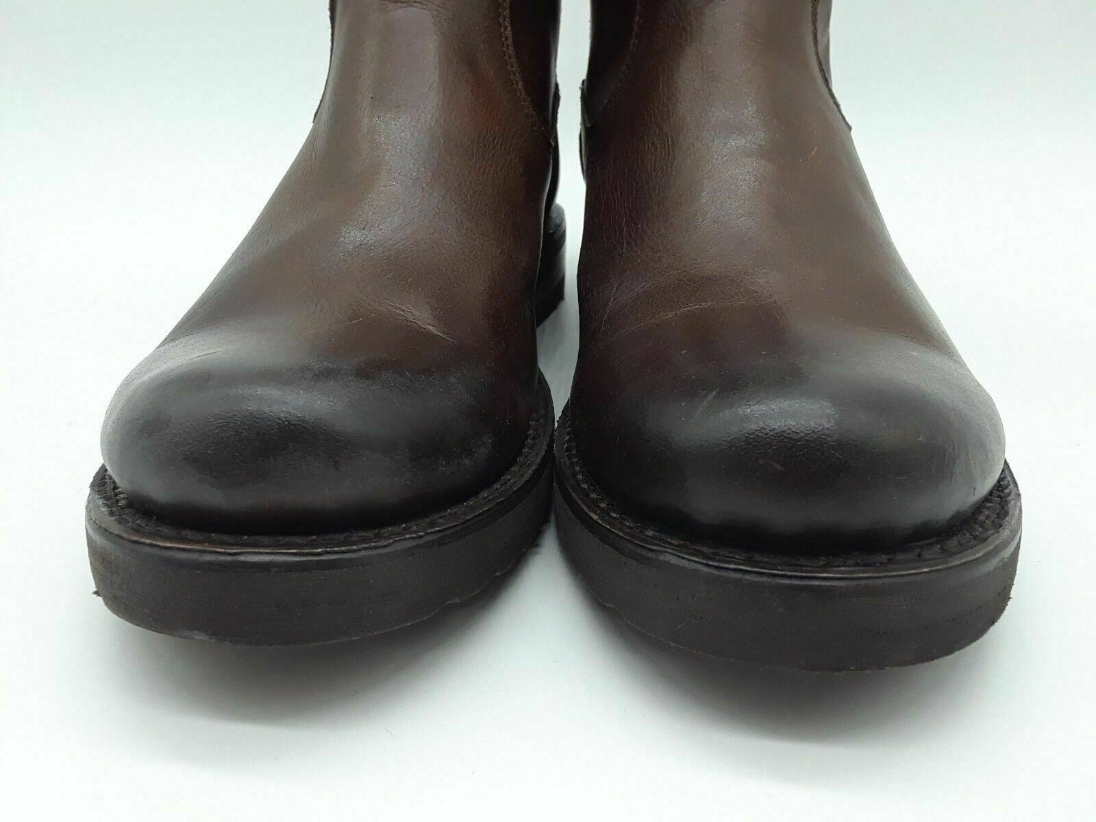 Frye Veronica Women Shoes Chocolate Leather Ankle Booties Sz 6 B