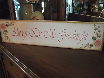 """Judith-O /""""Classy Steve McQueen/""""   HP Shabby Roses  Cottage Chic Primitive Sign"""