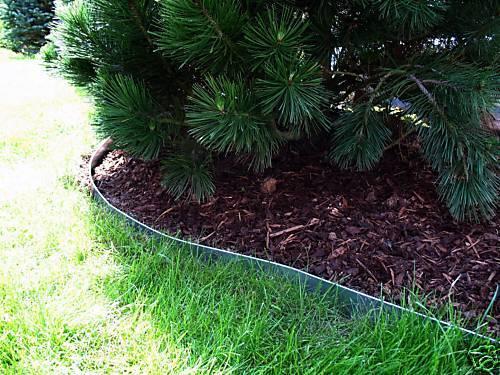 Metall Rasenkanten aus Metall Stahl verzinkt 7-er Set