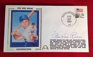 Pee Wee Reese signed 1984 Cooperstown Cachet PSA/DNA Cert# W40416