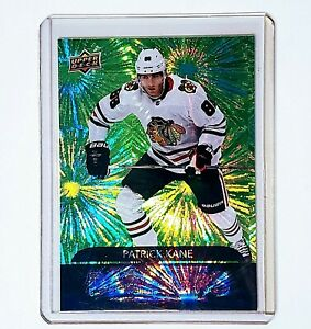 2020-21 NHL UD Series 1 Green Dazzlers DZ-11 Patrick Kane Chicago Blackhawks