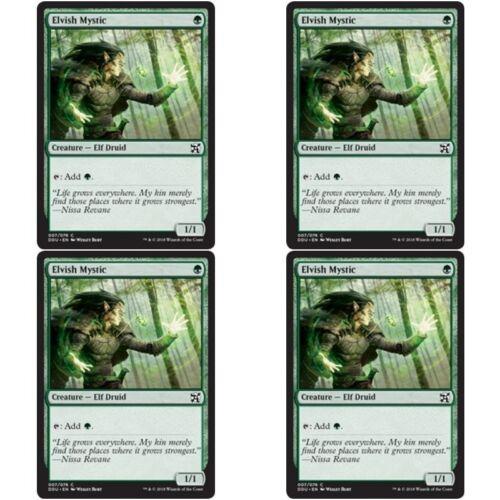 4 x ELVISH MYSTIC NM mtg Elves vs Inventors Green Elf Com