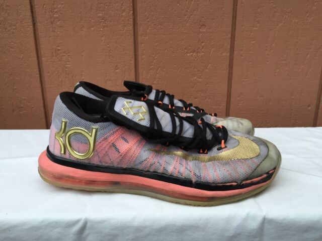 quality design dd2a5 f0d00 NIKE KD VI Elite White Metallic Gold Collection Kevin Durant 642838-100 US 9