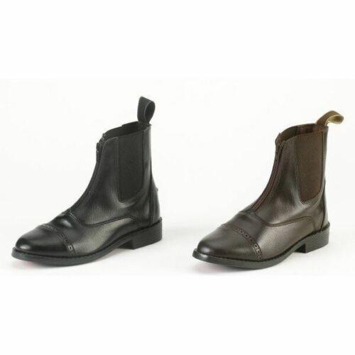 Ladies EquiStar Synthetic Zip Paddock Boot