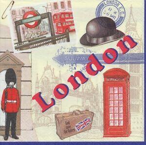 4-Servietten-London