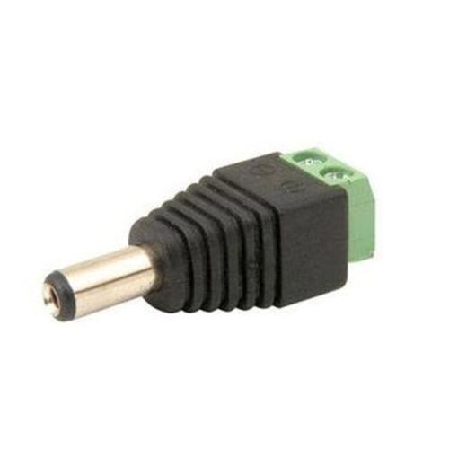 Adapter Plug DC CCTV Power Jack Male+Female Connector 2.1x5.5MM 1//5//10//20pcs