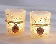 48 Acorn Leaf Tealight Candle Holders Autumn Wedding Favors Decorations Q36818