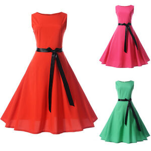 Women-Sleeveless-Vintage-50s-Rockabilly-Evening-Party-Prom-Cocktail-Swing-Dress