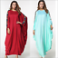 Abaya-Muslim-Women-Dress-Batwing-Sleeve-Loose-Kaftan-Islamic-Dubai-Jilbab-Robe thumbnail 2