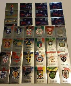 PANINI-FIFA-WOMENS-WORLD-CUP-FRANCE-2019-FOIL-EMBLEMS-amp-SHINY-STICKERS