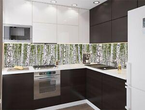 Details zu Küchenrückwand Birkenwald SP20 Spritzschutz für Bad und Küche  Acrylglas
