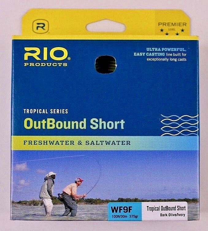 Rio OutBound  Short WF9F Fly Line Dark Olive Ivory Free Fast Shipping 6-21831  for wholesale