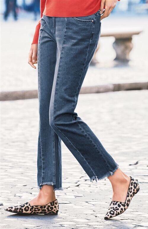"""NEW NEXT 10 Tall XL  Relaxed High Rise bluee Jeans Crop 30"""" Inside Leg"""
