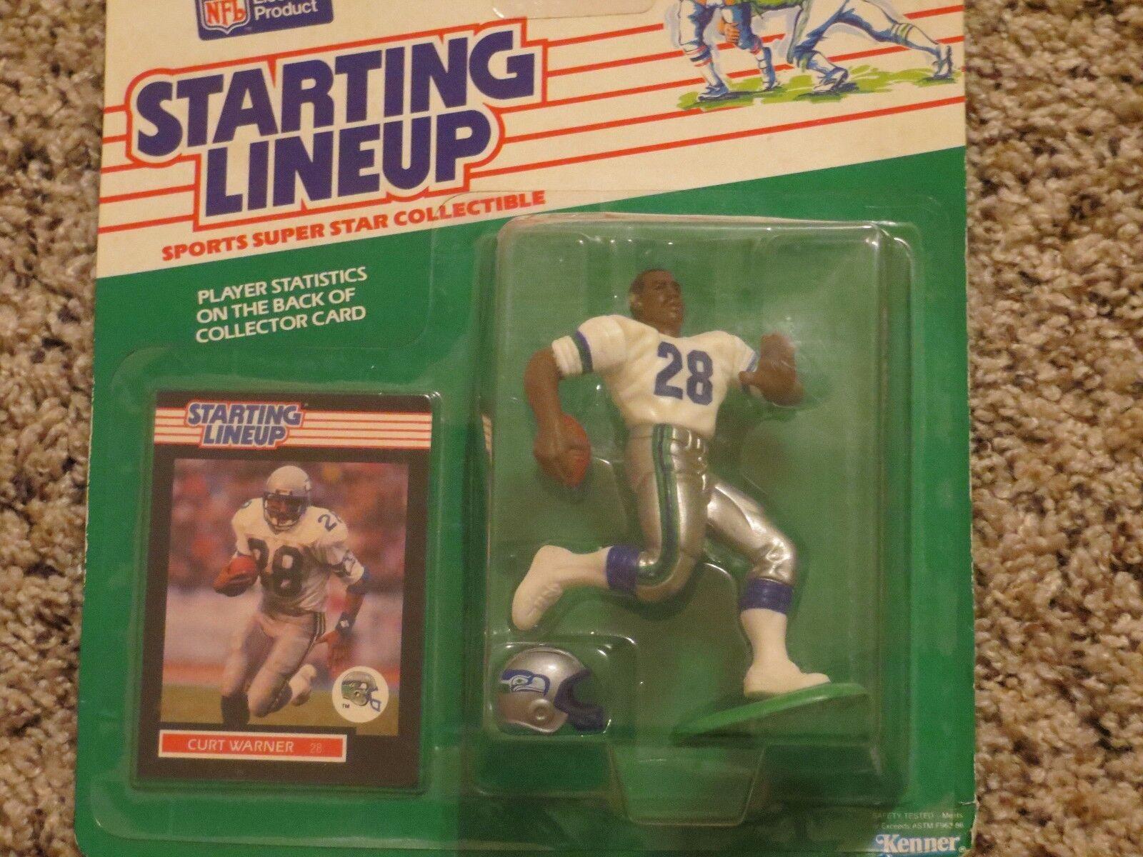 1989  Kit Warner slow, estrella de fútbol, Seattle Seahawks.