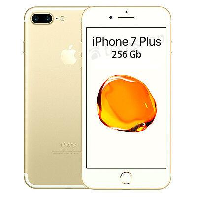 """Apple • iPhone 7 PLUS 256Gb GOLD • GARANZIA 2 ANNI • Oro Dorato 5.5"""" 4G • NUOVO"""