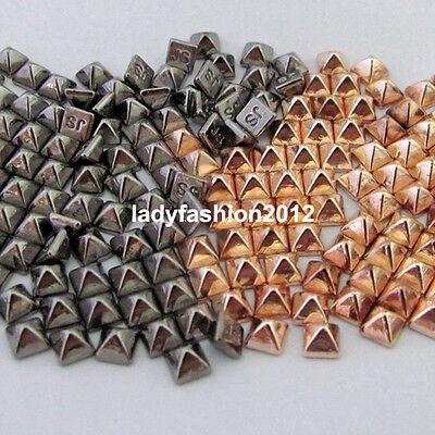 100PCS Pyramid-shaped metallic nail art rhinestone studs Cell Phone Decoration