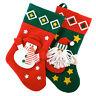 2 Novelty Christmas 3D Felt Santa Snowman Stocking Sack Ideal Pre Xmas Gift NEW