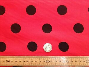 PolyCotton-fabric-SPOTTED-POLKA-DOT-RED-with-BLACK-SPOTS-25-MM-SPOTS
