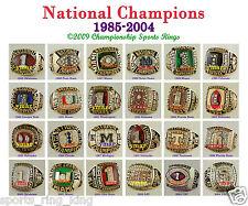 24 CUSTOM NCAA NATIONAL CHAMPIONSHIP BOWL EXCLUSIVE  FOOTBALL RING 8X10 PRINT