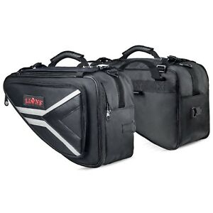f7363e34bf Image is loading Saddle-Bags-Expandable-Throw-Over-Panniers-Saddlebag- Motorcycle-