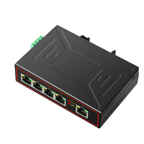 5 Ports Industrial Ethernet Switch 10//100//1000Mbps Gigabit Network DIN Rail Type