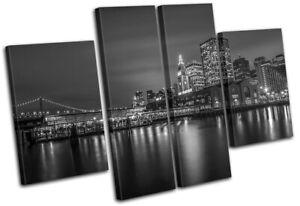 San-Francisco-Skyline-Night-City-MULTI-CANVAS-WALL-ART-Picture-Print