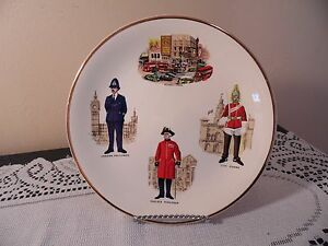 Vintage Decorative Wall Plate Weatherby Hanley England Royal ...