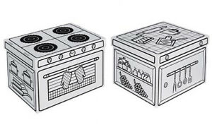New Kitchen Toy Cardboard Box Set Stove And Benchtop To