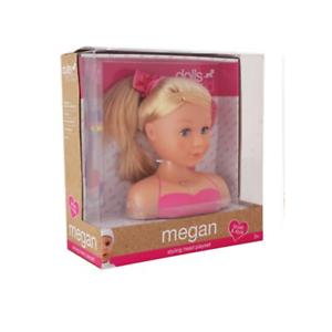 Acheter Pas Cher Dolls World Megan Styling Head Playset Blonde-afficher Le Titre D'origine