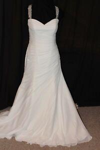 NWT-Lillian-WEST-6310-Ivory-Silver-chiffon-Size-16-X-back-wedding-gown-bridal