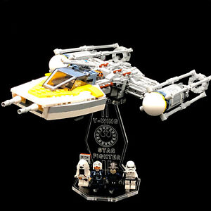 Acryl-Display-Stand-Acrylglas-Standfuss-fuer-LEGO-75172-Y-Wing-Starfighter