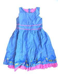 Kleid,blau mit pink abgesetzt v. MILLS Gr.140 | eBay