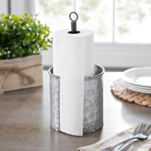 Details About Galvanized Metal Kitchen Towel Holder Rustic Farmhouse Kitchen Decor New