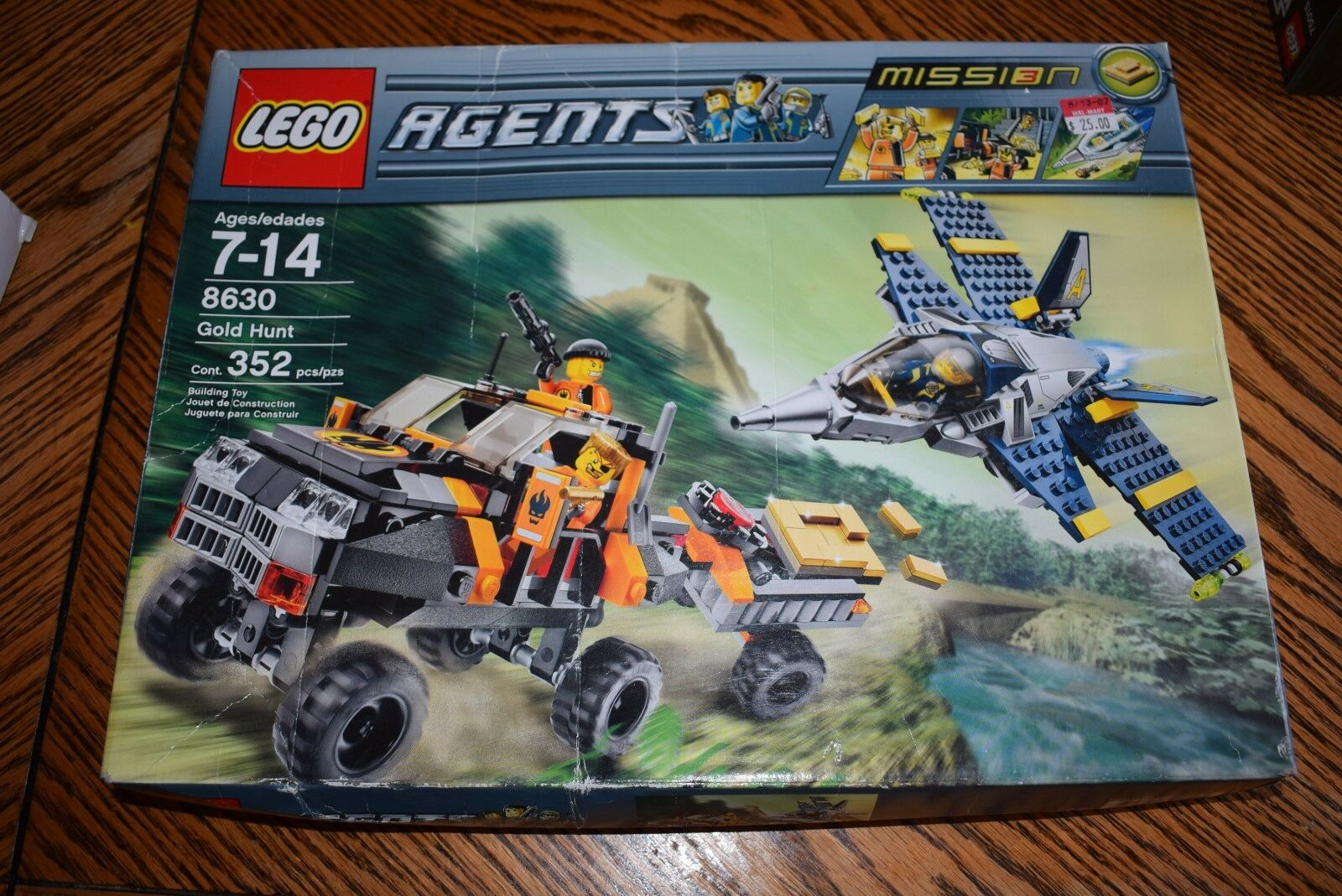 Lego Agents set 8630 Gold Hunt Mission 3 Sealed NEW  Secret Agent Spy