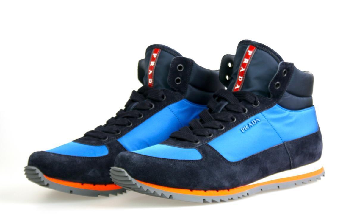 256fd54b743 LUXUS PRADA HIGH TOP SNEAKER SCHUHE 4T2969 blue NEU NEW 8