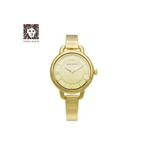 79c7a5f3be7 Image is loading NEW-ANNE-KLEIN-GOLD-TONE-BEIGE-DIAL-ROMAN-