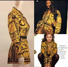 Rare Vtg Gianni Versace Couture 3 Piece Silk Shirt Skirt Belt Dress S