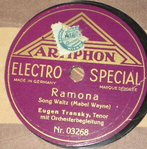 78rpm-Artiphon-03355-EUGEN-TRANSKY-RAMONA-WENN-EINE-FRAU-DIR-IHR-HIMMELBETT-ZEIG