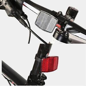 Red-road-Ciclo-Bicicletta-Riflettore-Luce-Strisce-Riflettenti-Bastone-ANTERIORE-POSTERIORE-Strumento