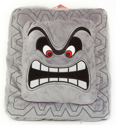 "BRAND NEW Little Buddy USA Toys Nintendo Official Super Mario 12"" Thwomp Pillow!"