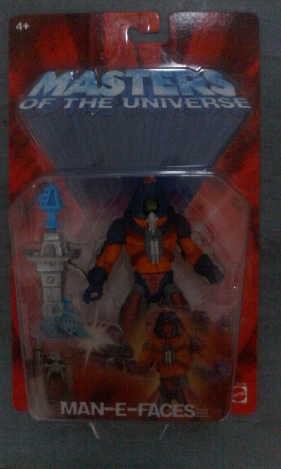 MATTEL MOTU Man-E-Faces HE-MAN Masters Universe MINT on Card. MOC Man E  Faces
