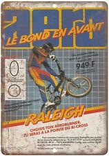 "Raleigh BMX, Freestyle BMX , RARE Racing advertisment 10"" x 7"" retro metal sign"