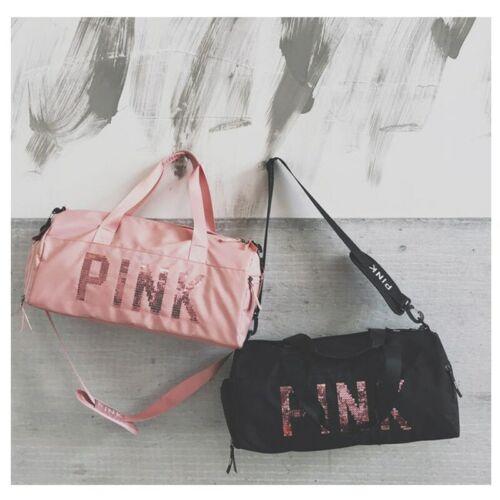 Details about  /Gym Bag Fitness Sport Bang Sequins Letter Design Waterproof Handbag For Women