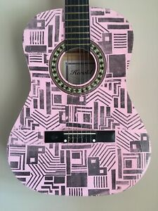 3-4-Size-Classical-Guitar-Pink-ZIGGY-STARDUST-David-Bowie-Design