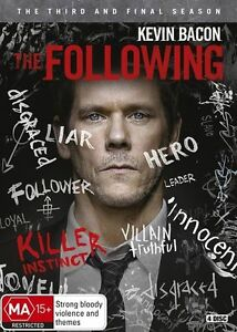 The-Following-Third-and-FInal-Season-3-Three-DVD-NEW-Region-4-Kevin-Bacon