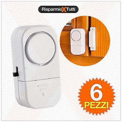 Ben Informato 6 Sensore Porte E Finestre Wireless Allarme Casa Antifurto Acustico Per Ufficio Elevato Standard Di Qualità E Igiene